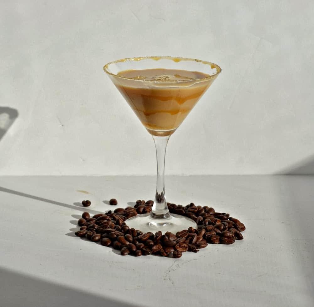 Salted Caramel Macchiato Martini!