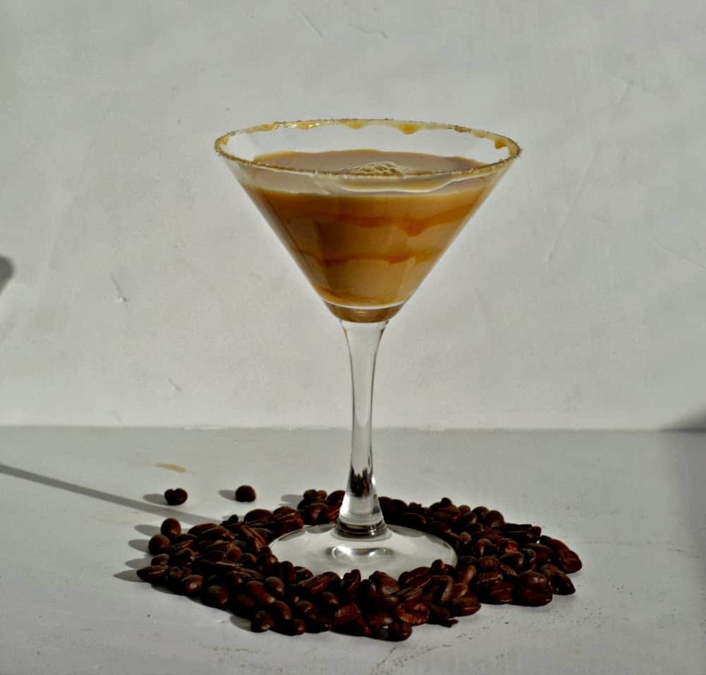 Salted Karamel Macchiato Martini made with Stoli Salte Karamel vodka