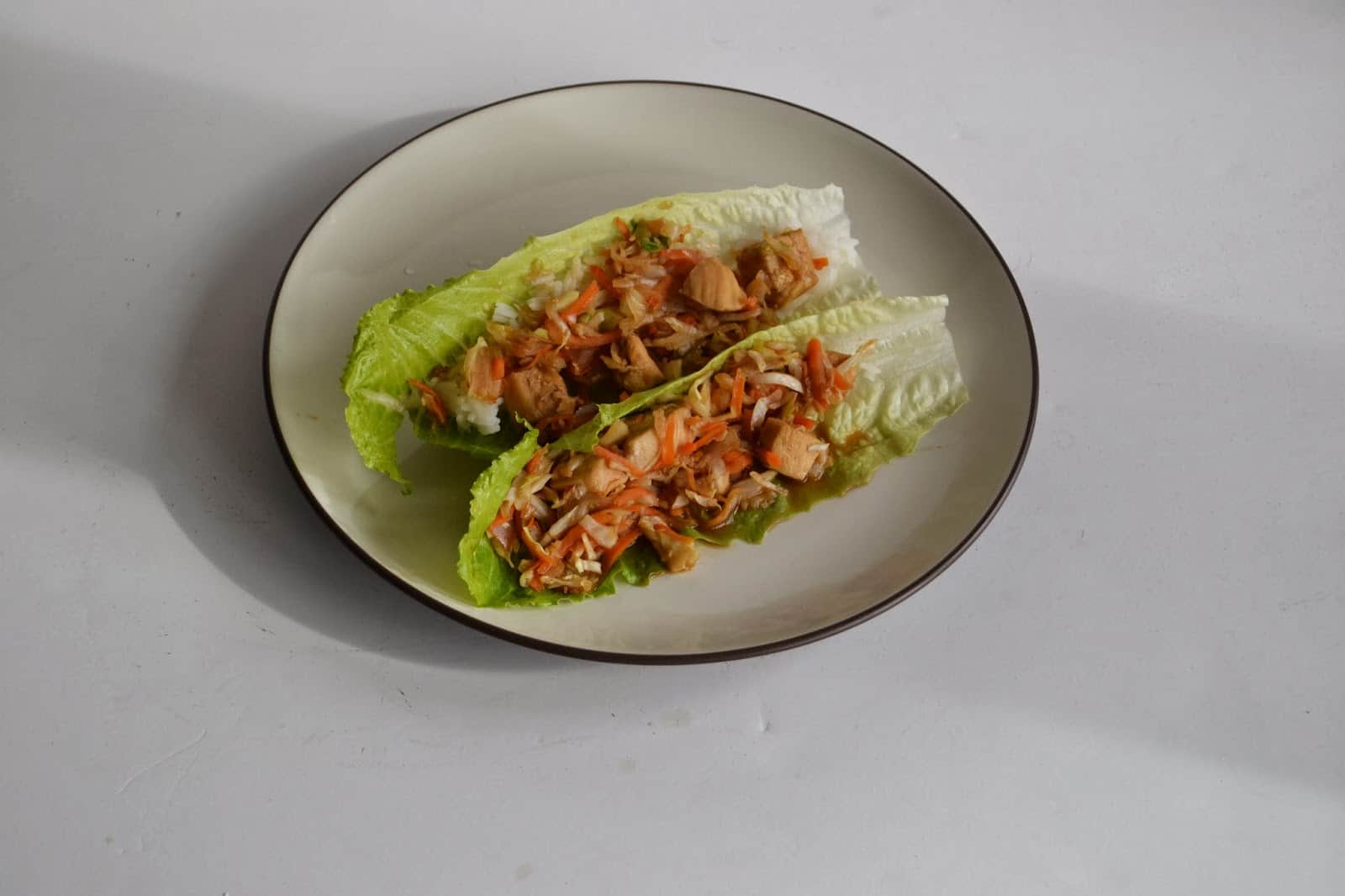 Delicious Mu Shu Chicken Lettuce Wraps