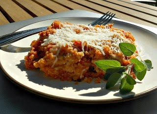 Baked Quinoa and Chicken Parmesan