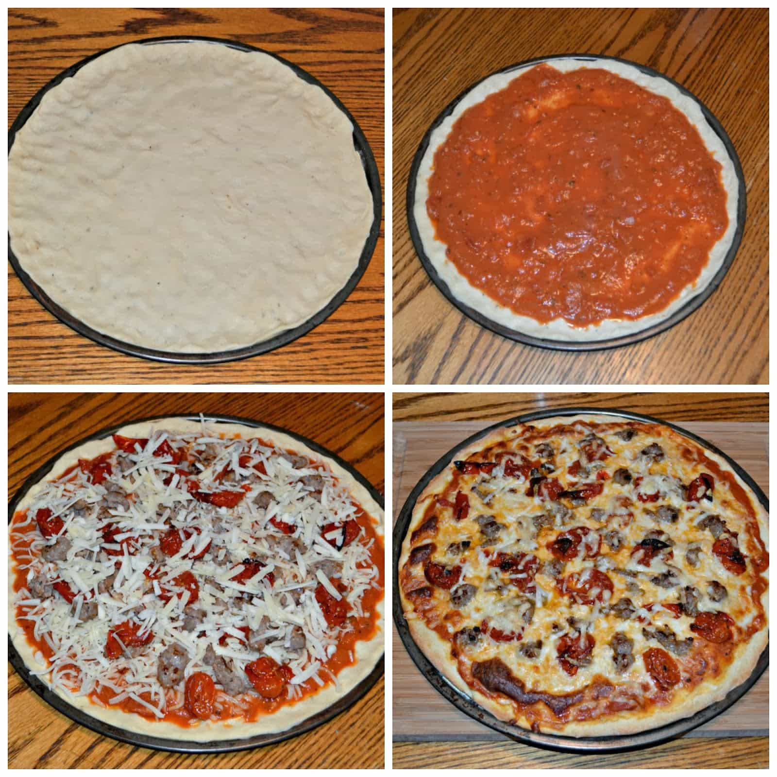 Homemade Seasoned Pizza Crust