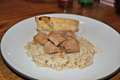 Tangy and delicioous Pork Adobo over rice