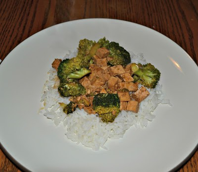 Spicy Tofu and Broccoli over rice