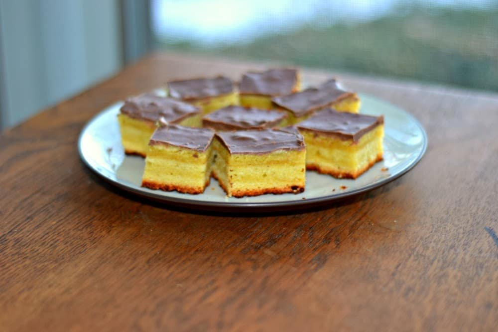 Delicious almond layer cake (Tree Cake:  Baumkuchen)