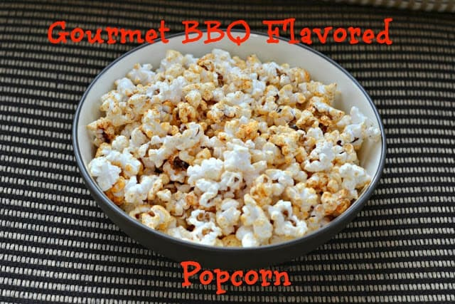 Easy Gourmet BBQ Flavored Popcorn!