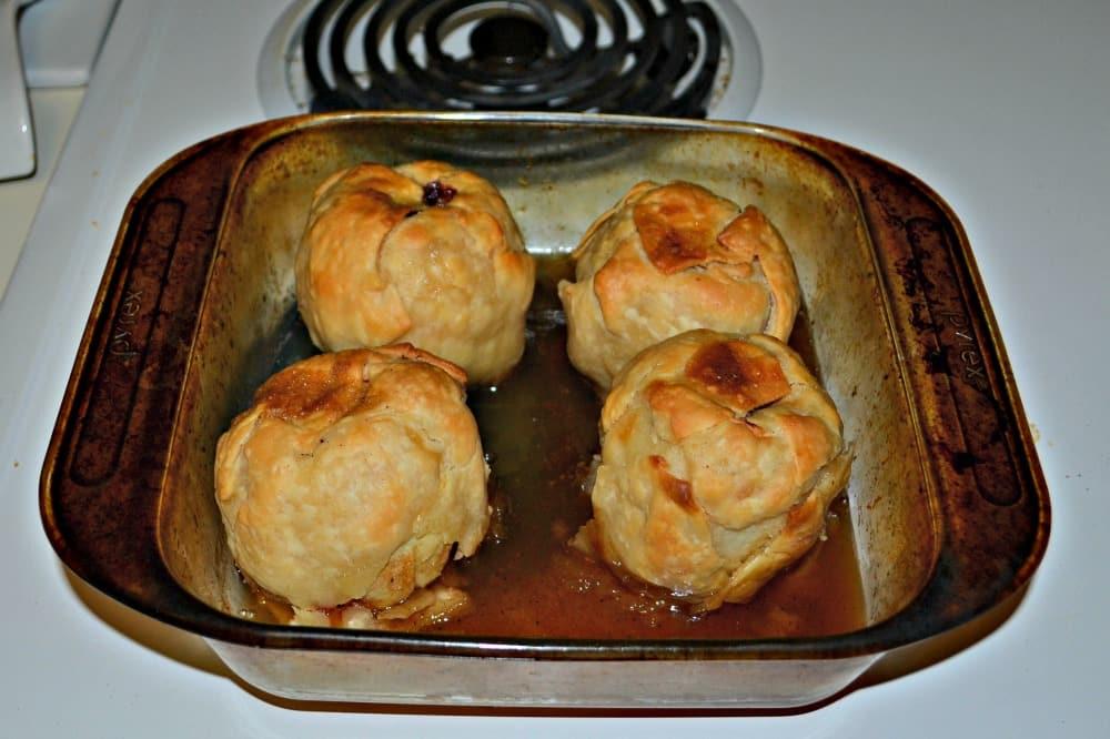 Apple dumplings:  www.hezzi-dsbooksandcooks.com