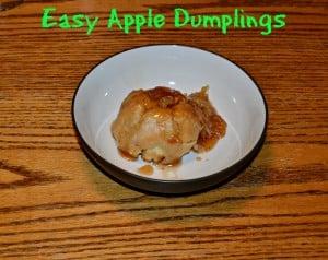 Easy Apple Dumplings #SundaySupper