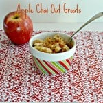 Apple Chai Oat Groats + a review of Vegan Slow Cooking by Kathy Hester
