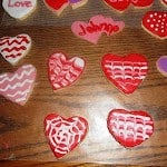 Valentine Sugar Cookies with Royal Icing