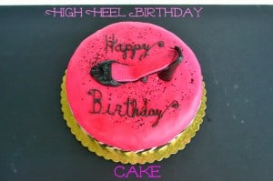 High Heel Fondant Cake (Vanilla Bean Cake with Coconut Filling)
