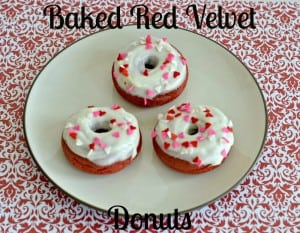 Baked Red Velvet Donuts with Cream Cheese Glaze