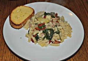 Pasta with Sausage, Spinach, and Artichokes