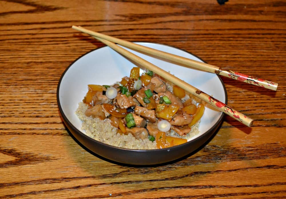 Sesame Pork with Quinoa