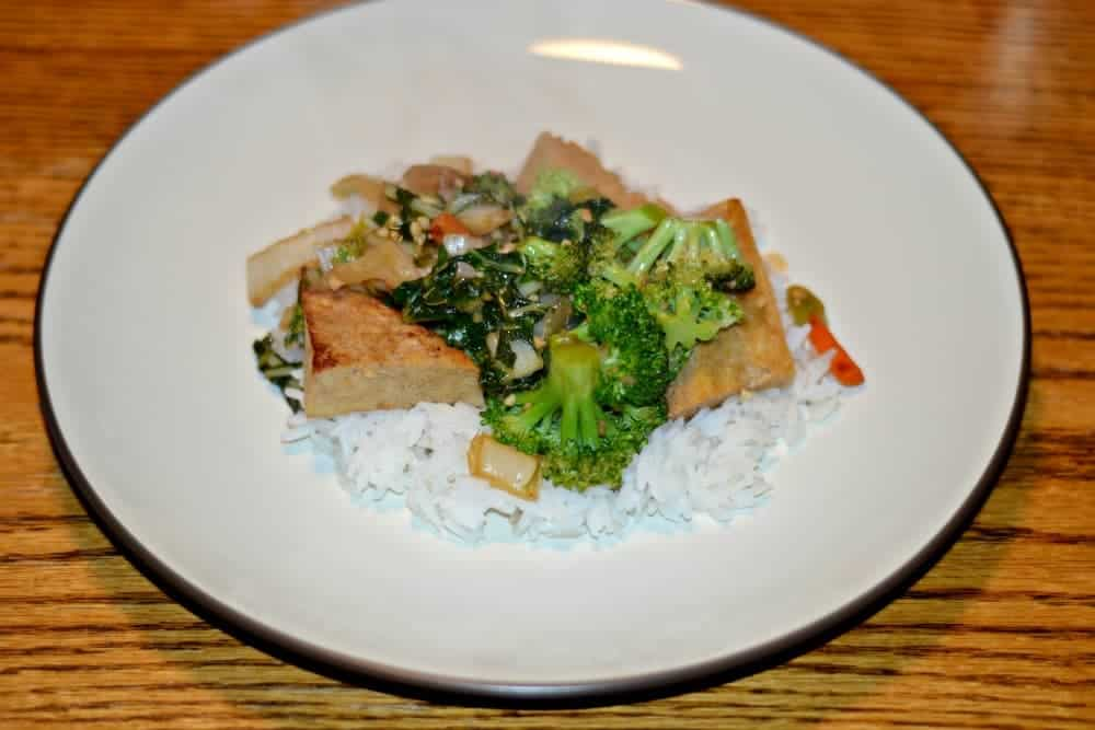 Tofu and Bok Choy Stir Fry