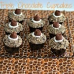 Triple Chocolate Cookie Cupcakes