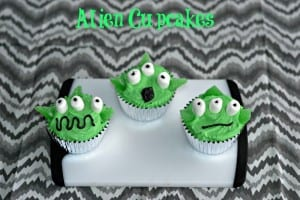 Alien Cupcakes