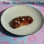 Asian Marinated Pork Chops #cleaneatingchallenge