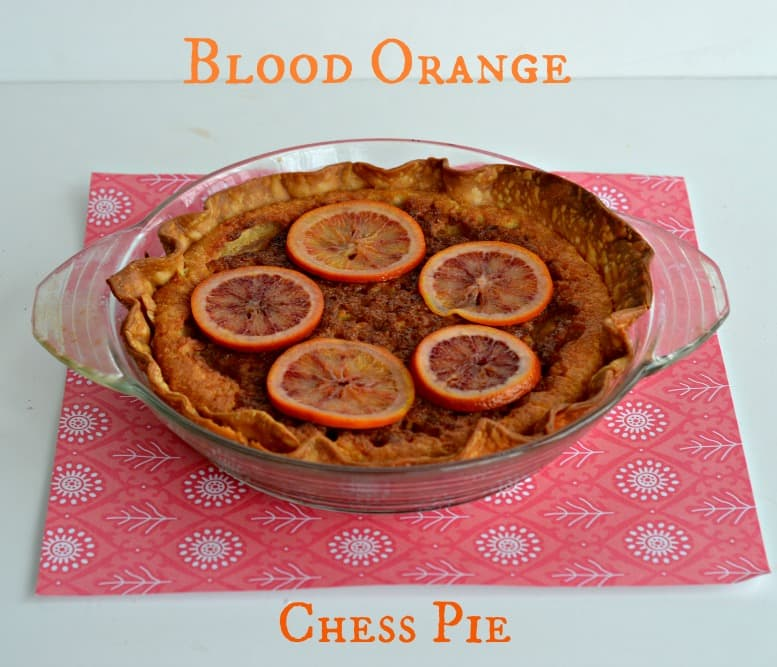 Blood Orange Chess Pie