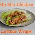 Mu Shu Chicken Lettuce Wraps #WeekdaySupper