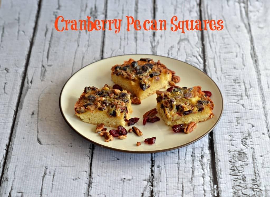 Cranberry Pecan Squares
