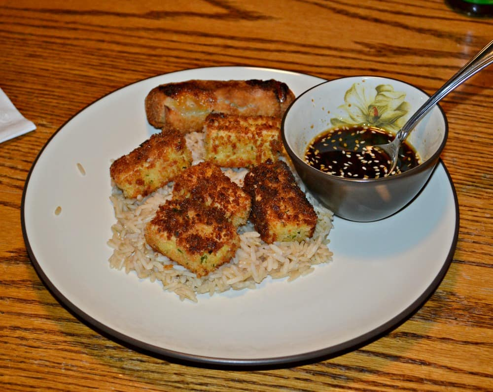 Crispy Tofu with Sesame Dipping Sauce from Hezzi-D's Books and Cooks