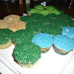 Golf Course Cupcake Cake with Simple Vanilla Cupcakes #SundaySupper