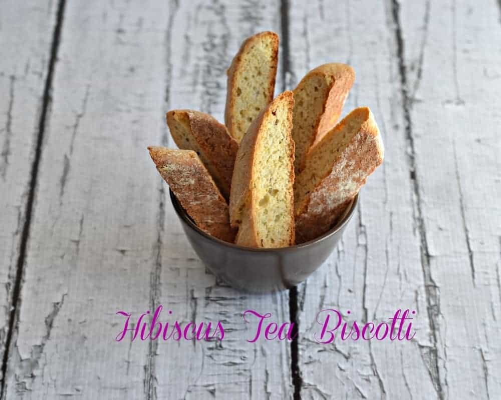 Hibiscus Tea Biscotti from Hezzi-D's Books and Cooks