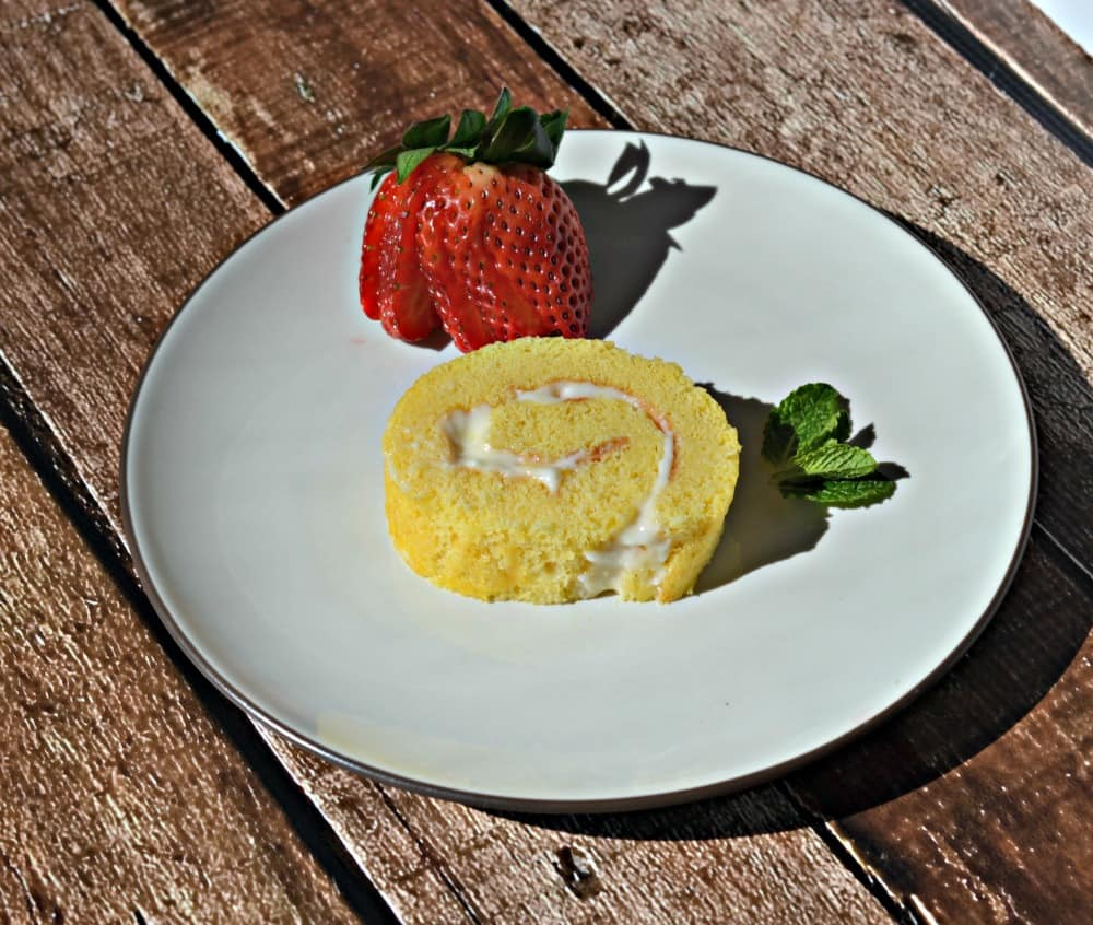 Lemon Roulade with Lemon Cream Cheese Filling