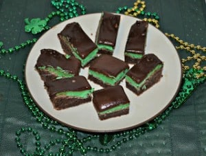 Chocolate Mint Brownies #SundaySupper