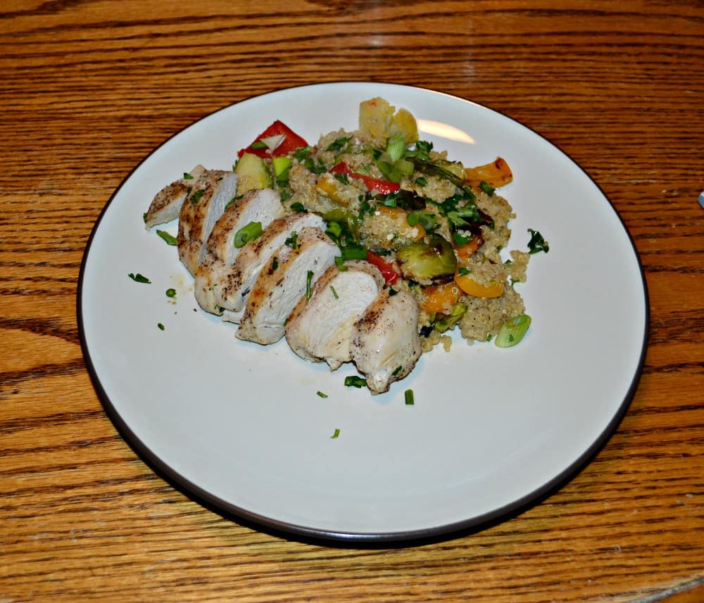 Quinoa and Roasted Vegetable Salad with Chicken