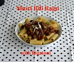 Short Rib Ragu with Rigatoni #SundaySupper