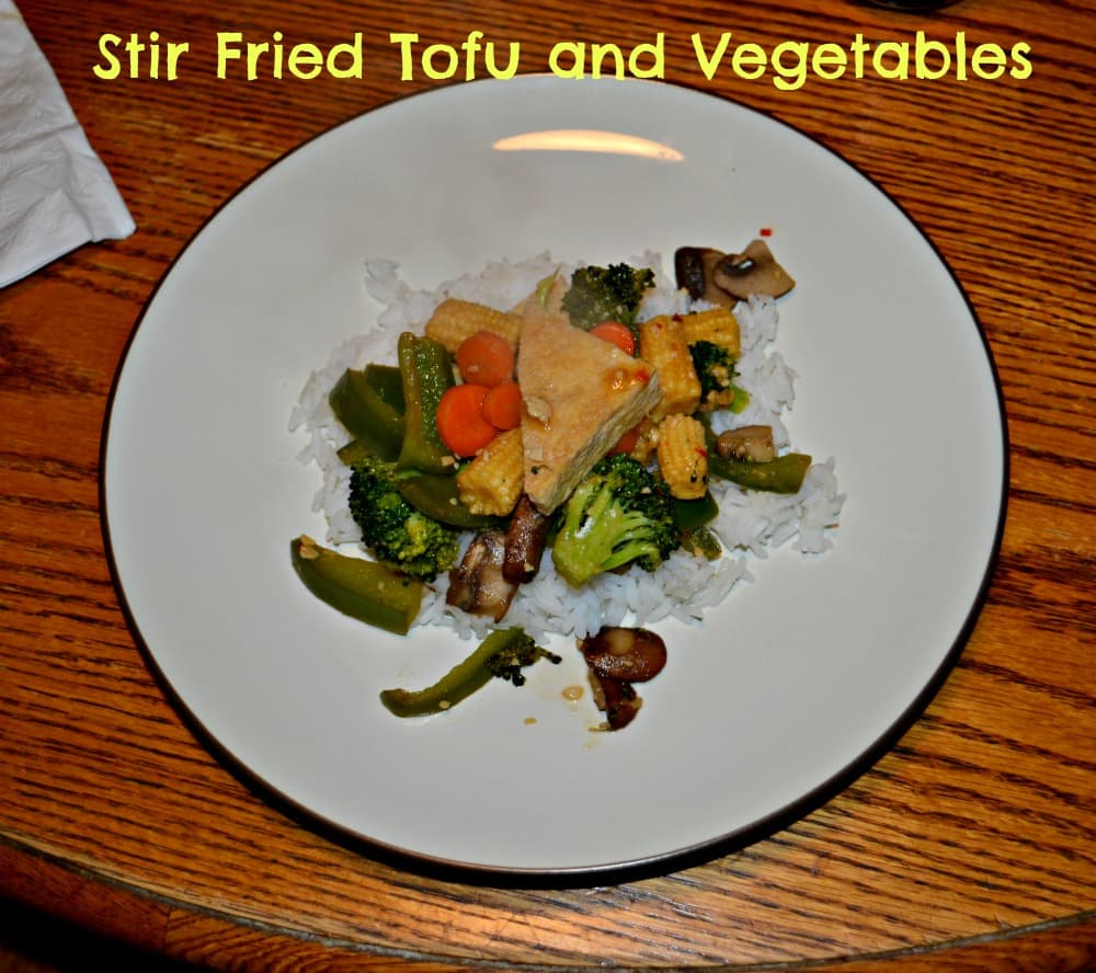 Stir Fried Tofu and Vegetables