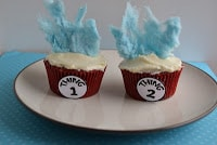 Thing 1 & Thing 2 Cupcakes for Dr. Seuss's Birthday