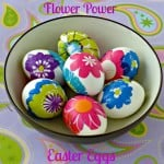 DIY Flower Power Easter Eggs