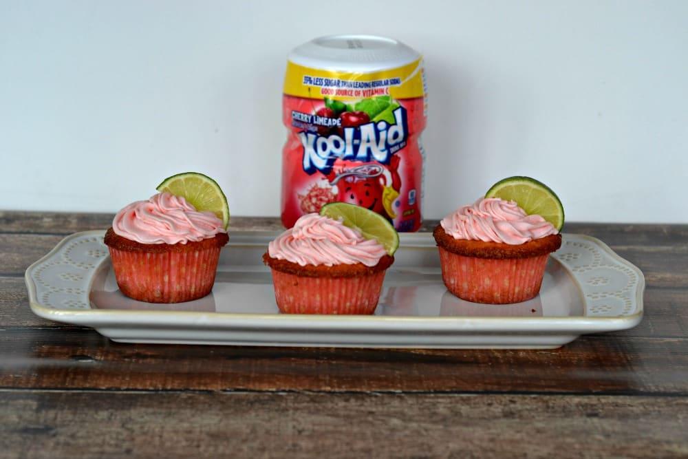 Cherry Limeade Kool-Aid Cupakes