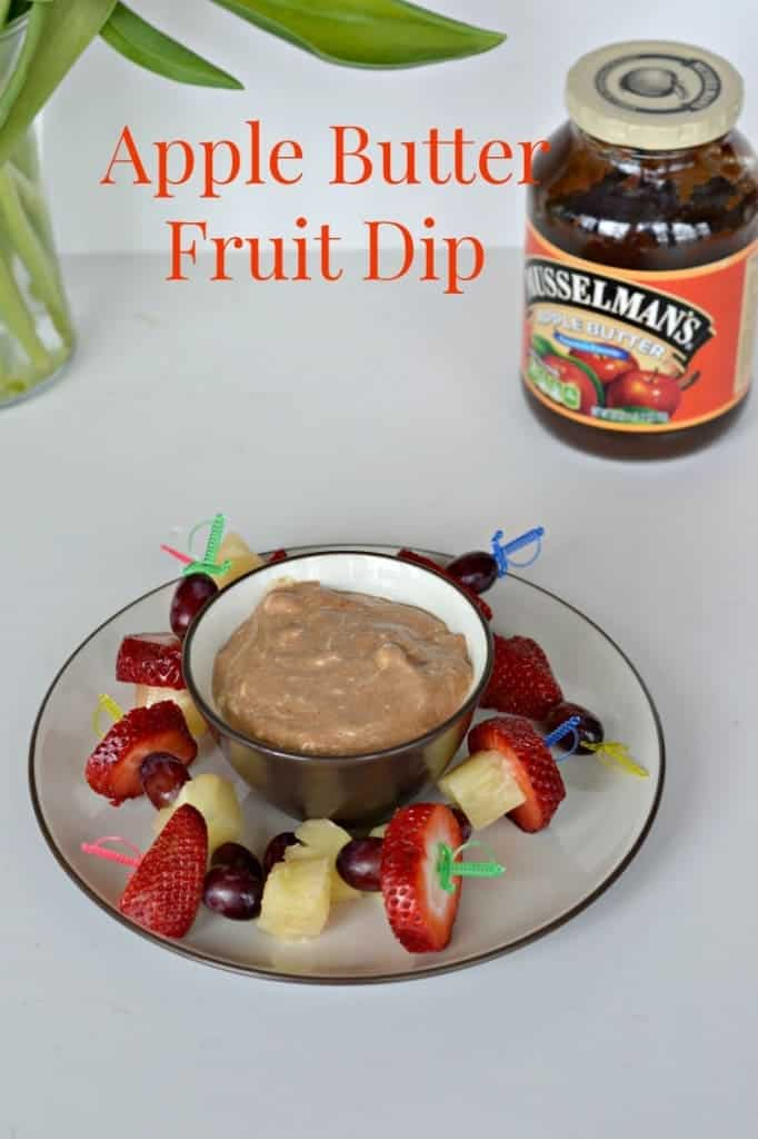 Apple Butter fruit dip has 2 ingredients and is great with graham crackers or fruit.