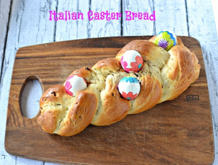 Easter Bread made beautiful with decorated Easter eggs!