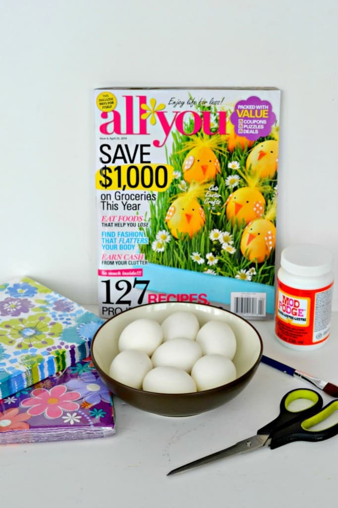 DIY Flower Power Easter Eggs from ALL YOU Magazine