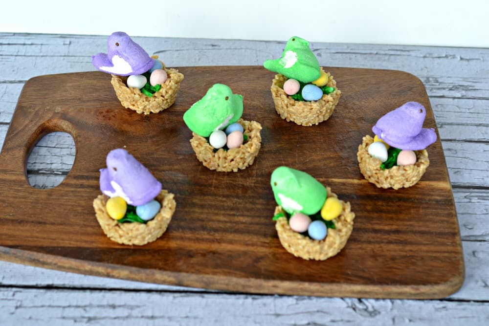 Peeps Nests Rice Krispies Treats