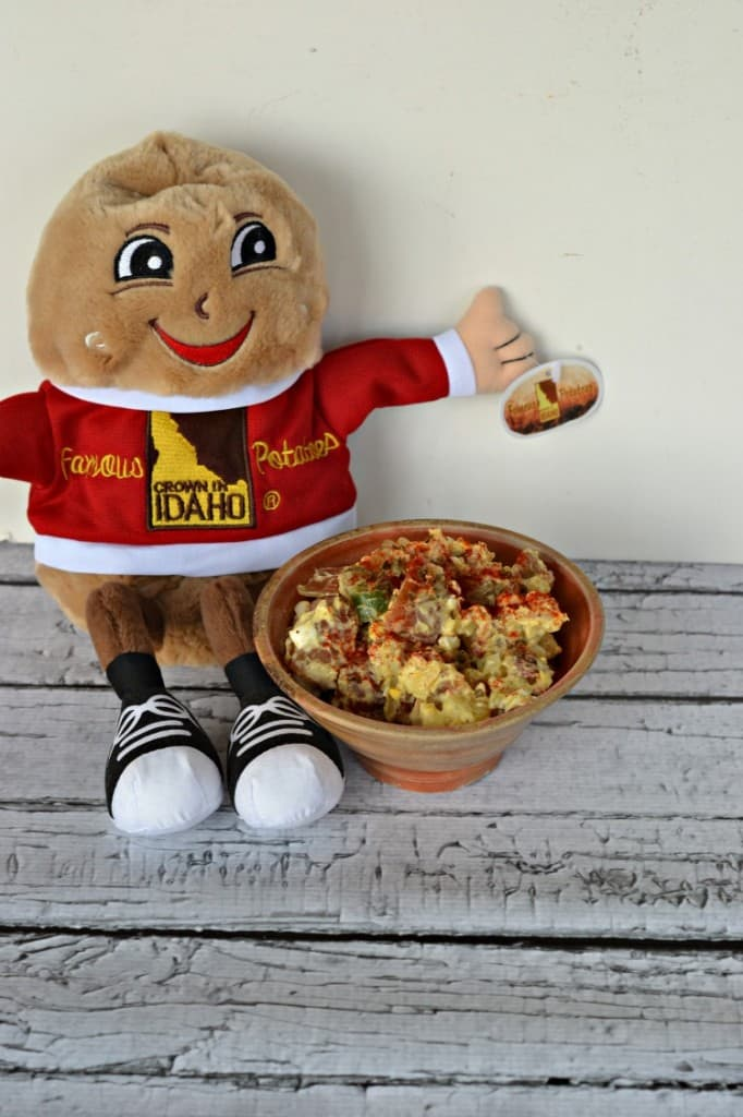 Spuddy Buddy loves his Southern Style potato salad with red skinned Idaho potatoes