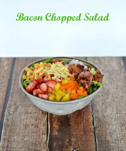 Bacon Chopped Salad with Strawberry Poppyseed Dressing #WeekdaySupper #ChooseDreams