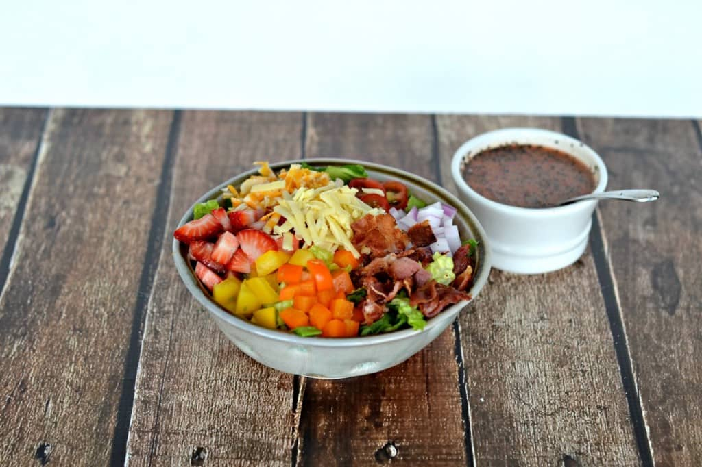 Bacon Chopped Salad with Strawberry Poppyseed Dressing