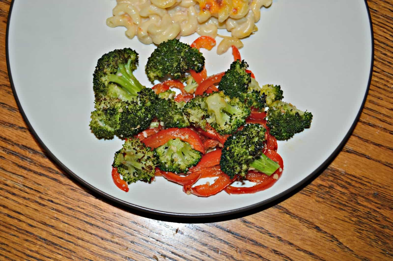 Roasted Broccoli and Red Peppers