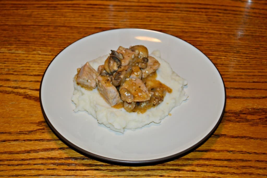 Chicken in Mushrooms in White Wine Sauce