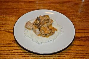 Chicken and Mushrooms in Garlic White Wine Sauce  #WeekdaySupper