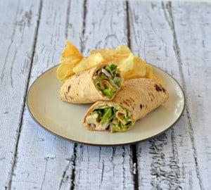 Chicken Caesar Hummus Wraps #HummusDay