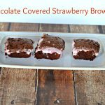 Chocolate Covered Strawberry Brownies for #FWCon