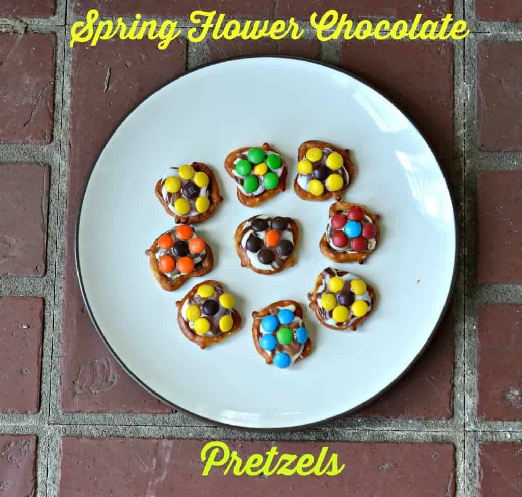 Spring Flower Chocolate Pretzels-easy to make!