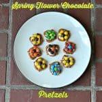 Spring Flower Chocolate Pretzels