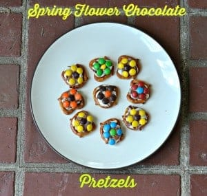 Spring Flower Chocolate Pretzels